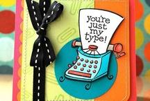 Typewriter cards, tags / by Debi Pursley