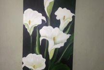 pinturas  e croché trabalho que fiz