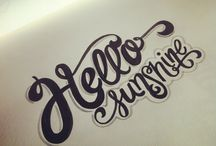 Lettering / by Marion BlaBlaBla