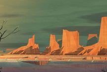 Concept art landscapes / Like concept art, but landscapes