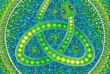 pointillist dot paintings