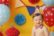circus theme cake smash