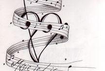 music tattoo designs for Megan