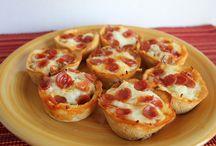 Salgados / Cupcake pizza