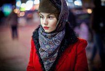 colorful russian winter