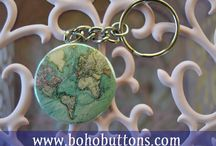 """1.5"""" Keychains - Travel Adventure Hippie Motivational Christian Traveler Northwest Adventure"""