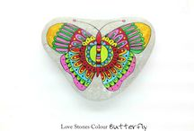 Stone Butterfly / Sassi dipinti a mano Adtiatic Coast Italia