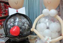 sposi di palloncini