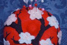 Craft Supplies & Tools, Sewing & Needlecraft Supplies, Pins & Pincushions, japenese, asian, oriental, tree, cherry blosssom, japan, china, chinese