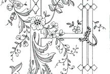 Embroidery and colouring  designs