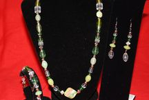 Necklace, Earrings, and Bracelet Sets / Unique one of a kind necklace, earrings, and bracelet sets created by artist Michele Wilson. You can find them at http://artbymichelewilson.com/necklacesbraceletsandearrings.htm