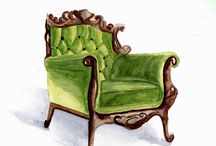My Watercolor Interiors / Watercolor Interiors