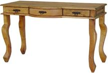 Rustic Pine Console Tables / Shop Online: http://www.lafuente.com/Mexican-Furniture/Rustic-Pine-Furniture/Console-Tables/  #southwest #rustic #interiordesign