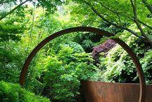 Sculpture jardin acier