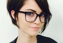 Brunettes short haircuts