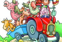 childrens farm clip art