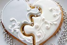 wedding cookies / puzzle / ciastko puzzle