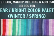 Clear Winter / Clear Spring Colour Palette - Colour Analysis / Color Analysis