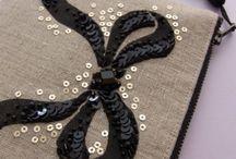リボンデザインの刺繍