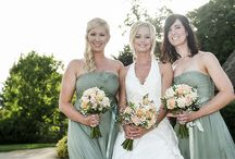 The Bride and Bridesmaids / The beautiful dresses and styles worn at Bassmead Manor Barns
