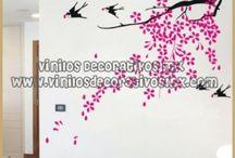 Vinilos Florales / by Vinilos Decorativos MX Mexico Decoracion de interiores con vinil decorativo