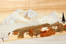 Marqueterie / A collection of examples of marquetry, the skilled art of inlaid timber.