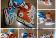 converse crochet I love / uncinetto bimbi