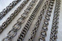 Smykker laget av sølvringer