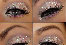 Glitter Augen Make-up