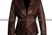 Dark Brown Slim Fit Women Blazer / Get this stylish Women Slimfit Brown Leather Blazer at most discounted price from Sky-Seller and avail free Shipping.