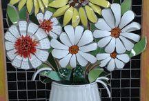 flor garrafa pet
