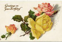 Art: vintage postcards flowers / открытки с цветами