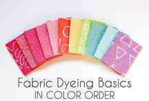 Dyeing and printing fabric