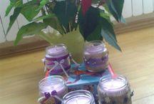 homemade candels