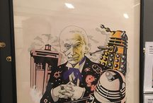 Doctor Who Target Book Covers / Artwork by Jeff Cummins and Chris Achilleos.