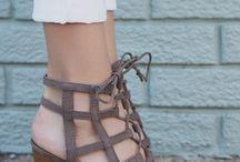 ♡Gladiator Rib Caged Block Heels♡