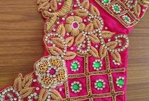 heavy hand work blouse with cutwork