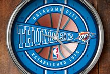 Oklahoma City Thunder Merchandise, Bedding, Decor & Gifts / Oklahoma City Thunder Merchandise is an awesome way to decorate your home & office to create your own Thunder fan zone in your bedroom, kid's bedroom, game room, study, kitchen, living room, and even the bathroom. Also fabulous as Oklahoma City Thunder fan gifts. Show off your Thunder team spirit today!