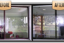 Before and After / Window Restoration and Aluminium window painting or Amuminium window restoration. Before and After Pictures