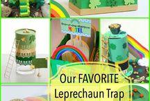 Leprechaun Take Over / Leprechaun Traps and Leprechaun Doors for St Patrick's Day.