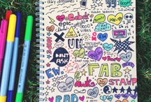 Things to draw on note book / by Taylor Bistodeau