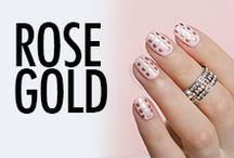 Rose Gold Nail Art & Nail Designs