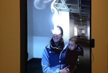 "The Year's Midnight / An interactive video installation in East Building: Rafael Lozano Hemmer, The Year's Midnight, 2011, high resolution interactive display with built-in computerized surveillance system, 41.14 x 31.5 x 4.72"" / 104.5 x 80 x 12 cm"
