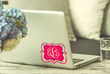 Personalized laptop stickers