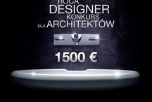 KONKURS ROCA DESIGNER / Znamy już zwycięzcę ogólnopolskiego konkursu dla architektów Roca Designer. Pierwsze miejsce oraz nagrodę pieniężną w wysokości 1500 EURO zdobył warszawski architekt, Marcin Irek. Jury zdecydowało się również na przyznanie nagród 10 uczestnikom, których prace wyróżniły się na tle nadesłanych projektów. Projekt miał w sposób kreatywny i funkcjonalny wykorzystywać produkty z oferty marki Roca. Wszystkie elementy ceramiczne musiały być wyposażone w powłokę MAXI CLEAN / by ROCA POLSKA