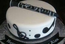gâteau anniversaire clarinette