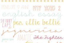 Fonts & Lettering / by Gwen Caldwell
