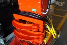 Accessory articulated crane or backhoe loader tree cutter