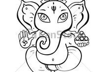 Ganesha. Dioses