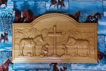 Christian Wood Carvings / We offer a wide variety of unique custom wood carved Christian gifts, religious wall wood carvings, elegant wall crosses and crucifixes, Stations of the Cross, as well as personalized engraving for that special Christian event including weddings, anniversaries and graduations. / by TheWoodGrainGallery